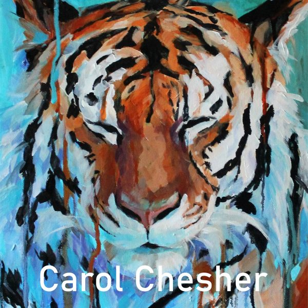 A look at Carol Chesher's Tiger piece for the Window Gallery Art Gallery 2020 Calendar