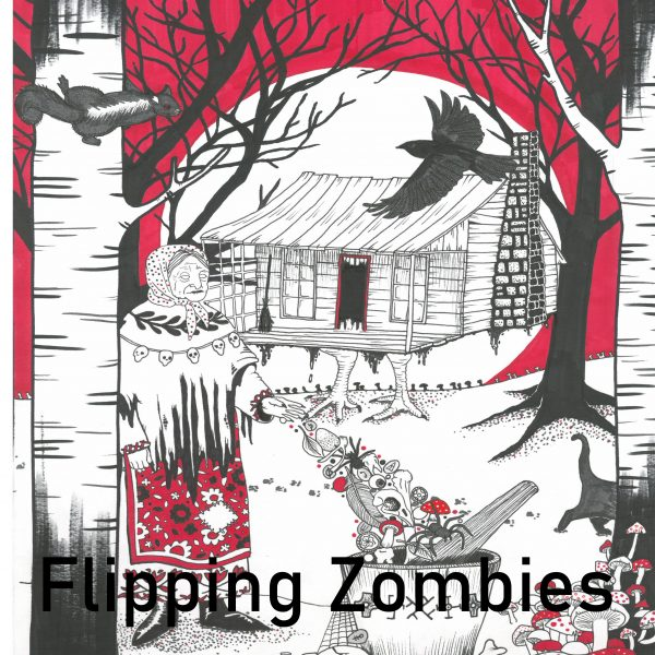A look at Flipping Zombies' Baba Yaga piece for the Window Gallery Art Gallery 2020 Calendar