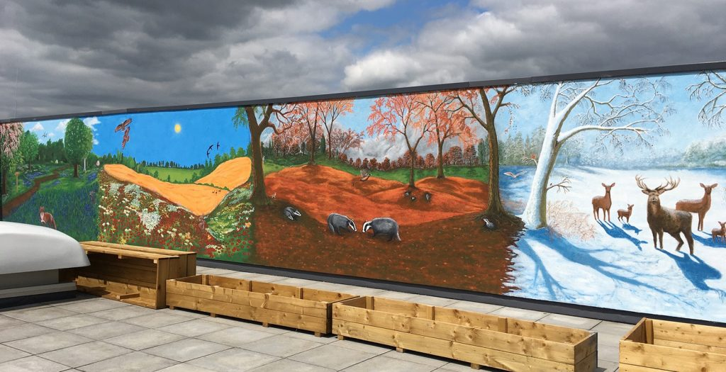 Four Seasons Mural by Keith Hollingsworth