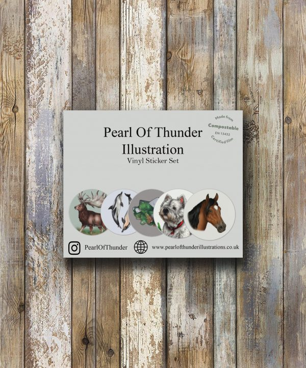 Animal & Nature Vinyl Sticker Set