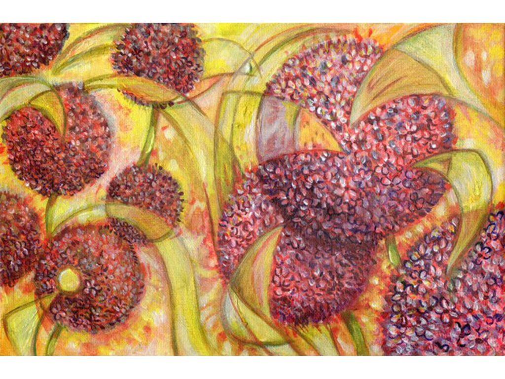 Swirl Allium Claret by Nicola Osborne