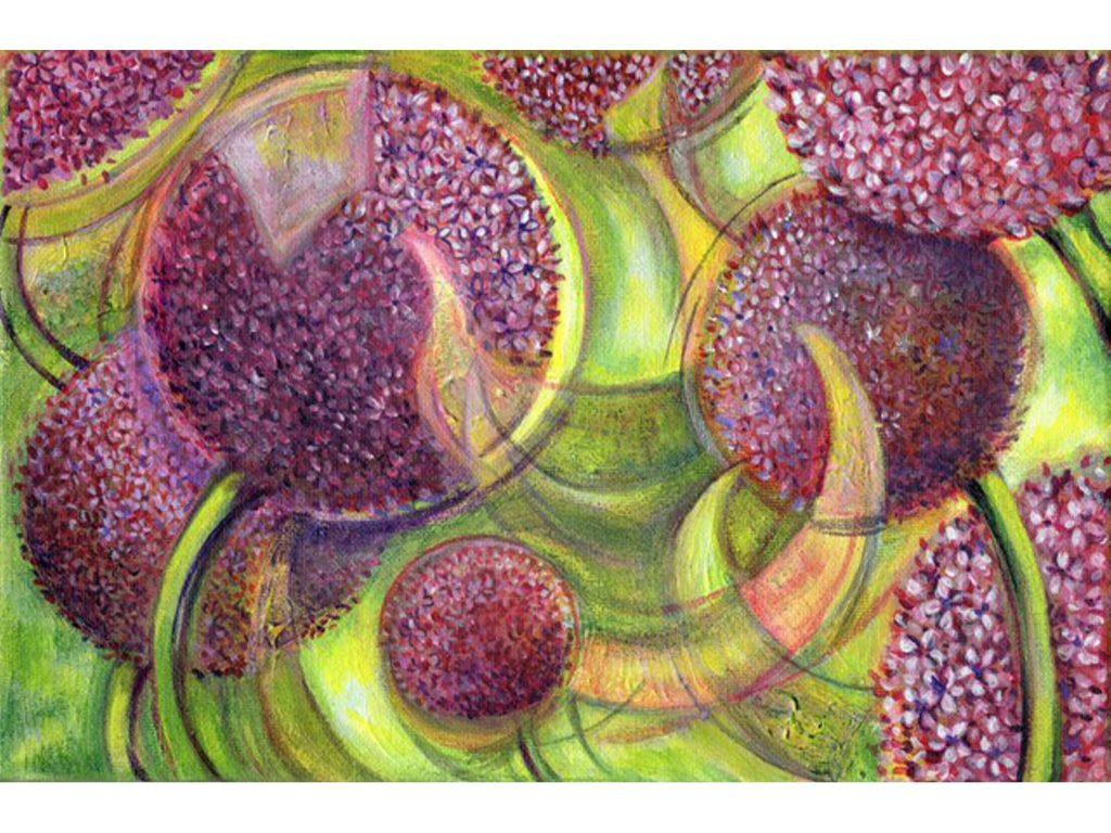 Swirl Allium Purple by Nicola Osborne