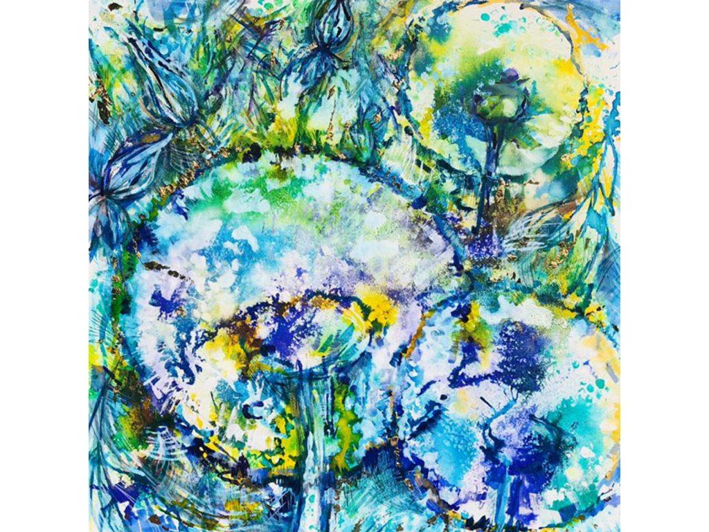 Taraxacum Splash Blue by Nicola Osborne