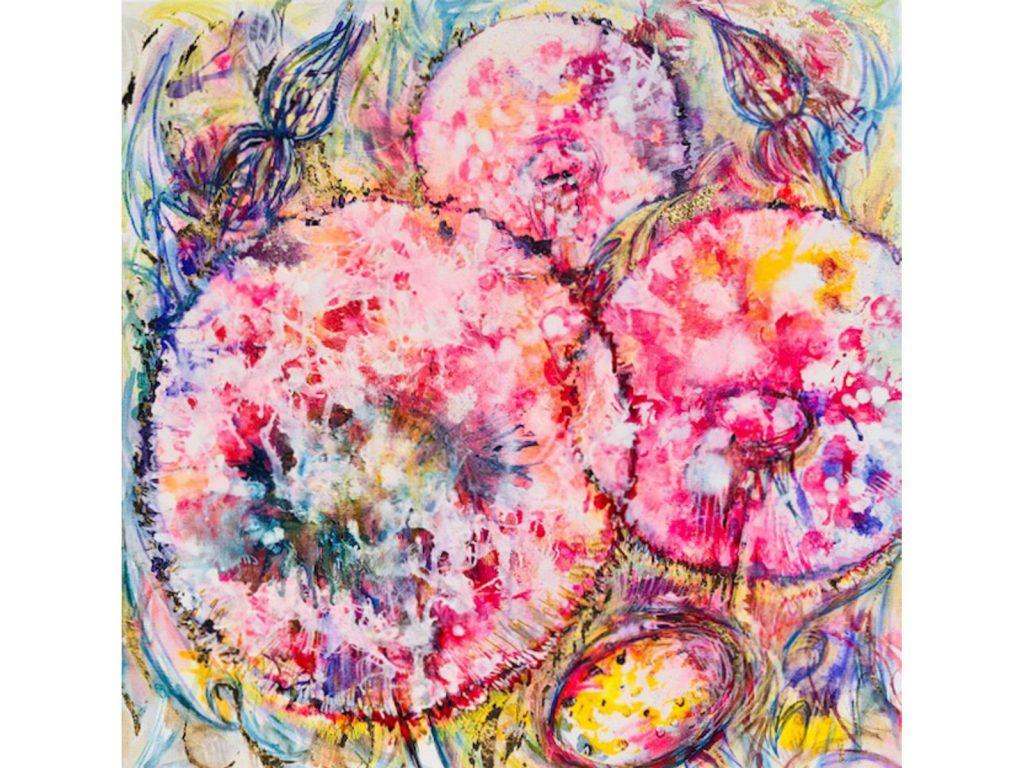 Taraxacum Splash Pink by Nicola Osborne