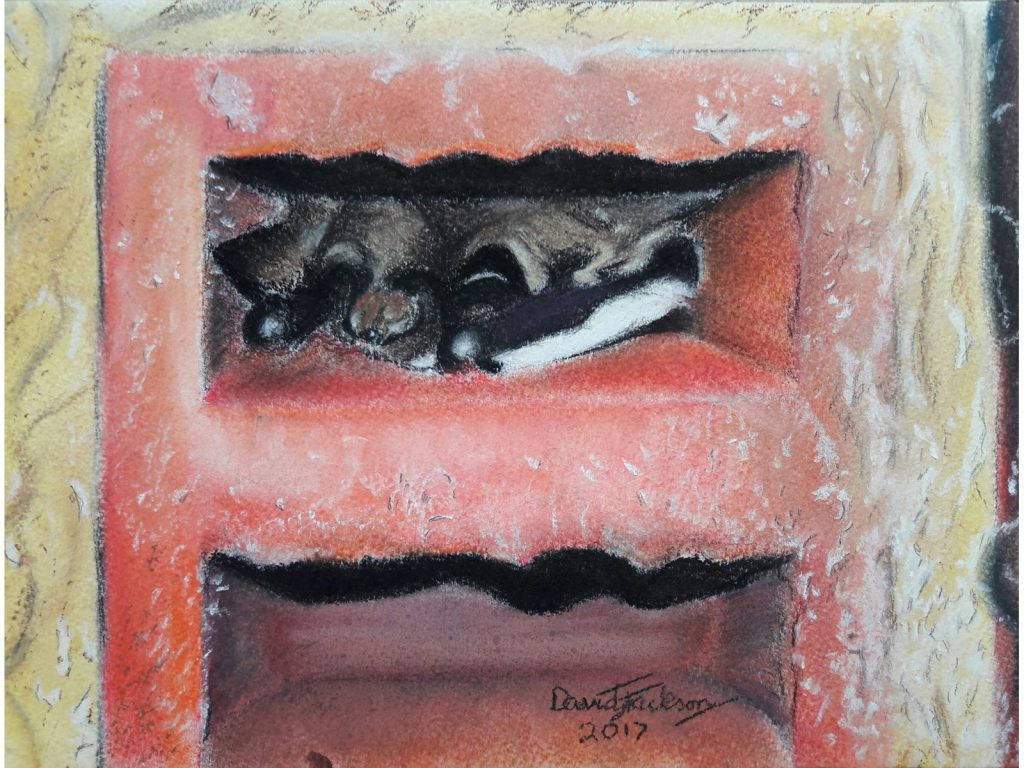 Painting of A Brick Hibernator by David Jackson