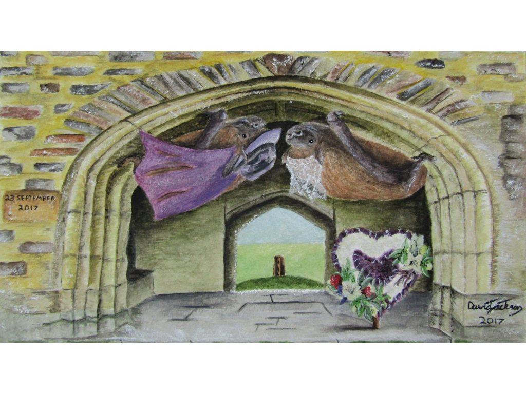 Painting of Bat Wedding by David Jackson