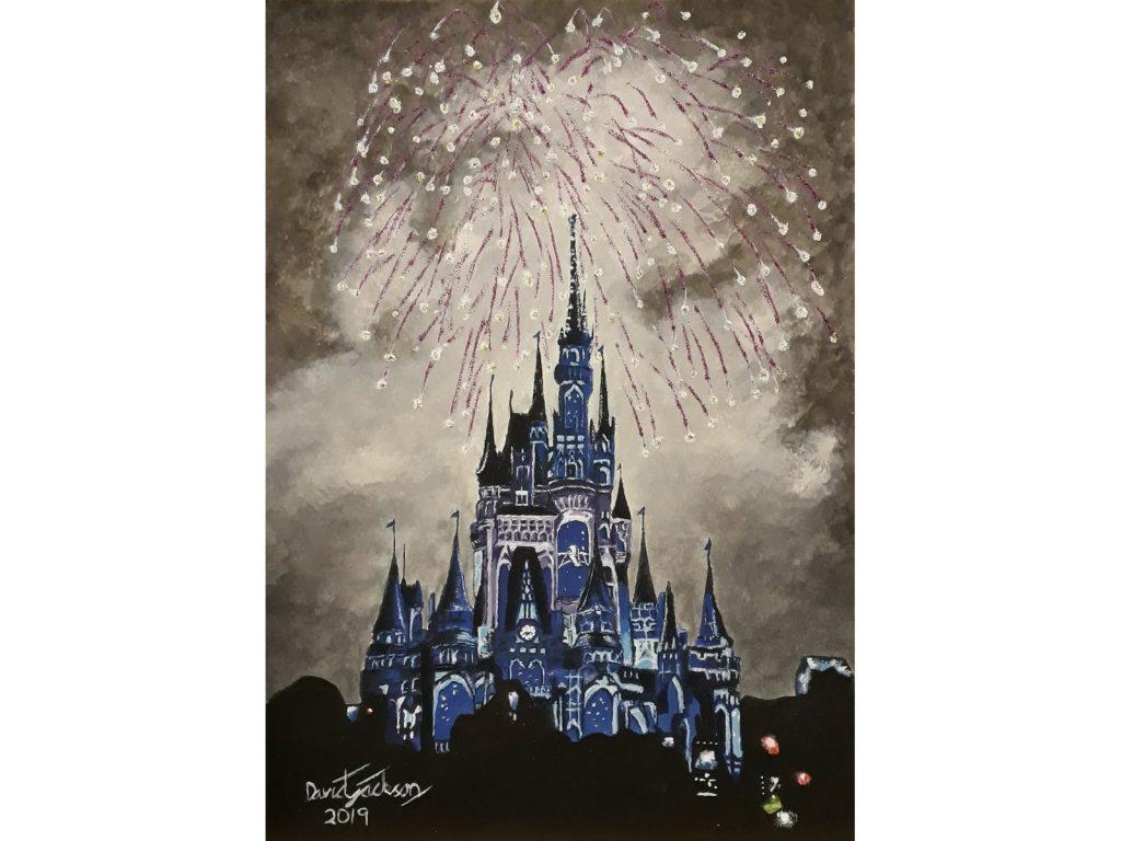Painting of Disneyland Paradise by David Jackson